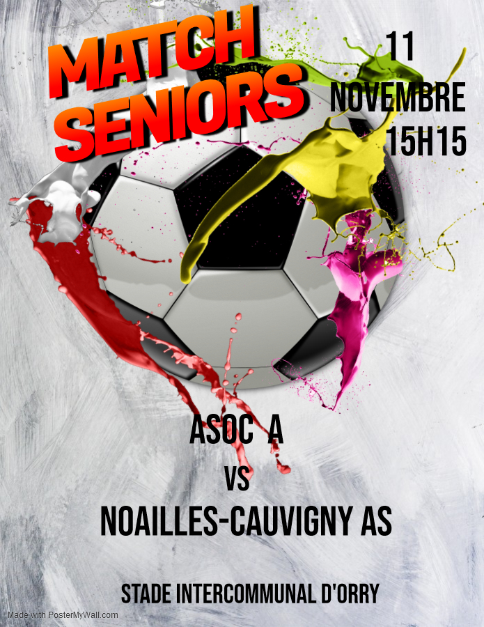 Match de foot senior